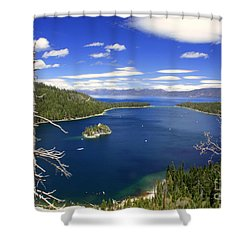 Tahoe's Emerald Bay Shower Curtain