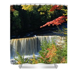 Tahquamenon Falls Autumn Shower Curtain