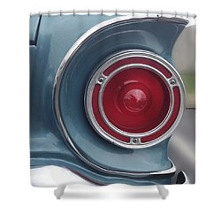Tail Light Ford Falcon 1961 Shower Curtain by Don Spenner