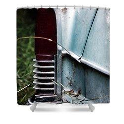 Tail Light Shower Curtain by Rebecca Davis