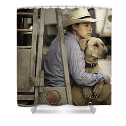 Tailgate Friends Shower Curtain by Steven Bateson