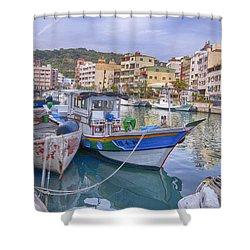Taiwan Boats Shower Curtain