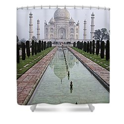 Taj Mahal Early Morning Shower Curtain