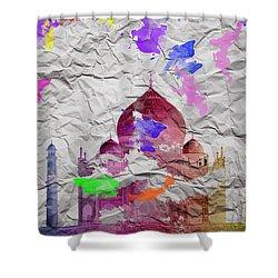 Taj Mahal Shower Curtain by Image World