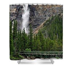 Takakkaw Falls Shower Curtain by Lisa Phillips