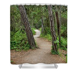 Take A Hike Shower Curtain by Art Block Collections