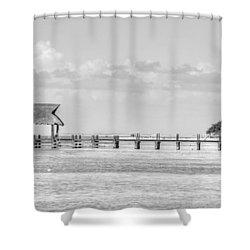 Take A Long Walk Off A Short Pier Shower Curtain