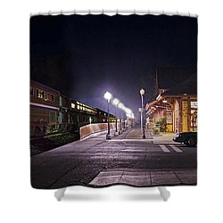 Take A Ride On Amtrak Shower Curtain