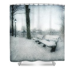 Take A Seat Shower Curtain