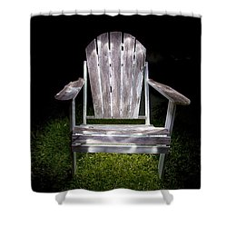 Adirondack Chair Painted With Light Shower Curtain