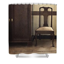 Take A Seat Shower Curtain by Margie Hurwich