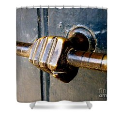 Take Hold Shower Curtain by Lainie Wrightson