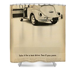 Take It For A Test Drive Shower Curtain by Georgia Fowler