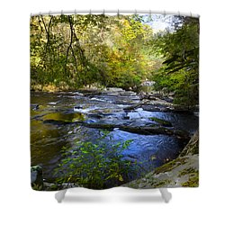 Take Me To The River Shower Curtain by Debra and Dave Vanderlaan