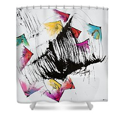 Take Off Shower Curtain by Asha Carolyn Young