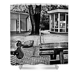 Shower Curtain featuring the photograph Taking A Break by Andy Prendy