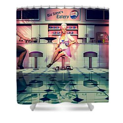 Taking A Break Shower Curtain by Bob Orsillo