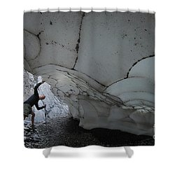 Taking A Look Shower Curtain by Bob Christopher