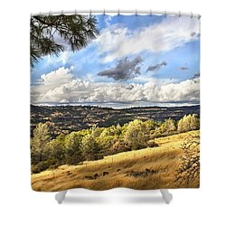 Taking A Ride Up Highway 32 Shower Curtain
