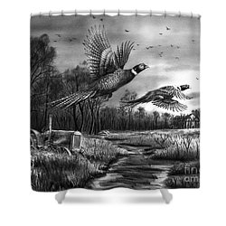 Taking Flight  Shower Curtain by Peter Piatt
