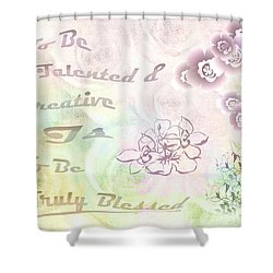 Talented And Creative Shower Curtain