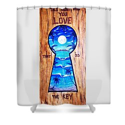 Talk About Love Shower Curtain