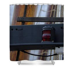 Shower Curtain featuring the photograph Tall Ship Bow Light by Dale Powell