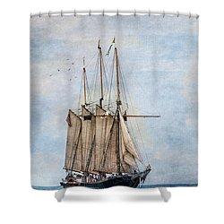 Tall Ship Denis Sullivan Shower Curtain by Dale Kincaid