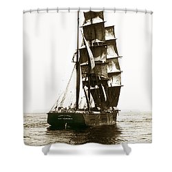 Shower Curtain featuring the photograph Tall Ship Germania Out Of San Francisco California  Circa 1900 by California Views Mr Pat Hathaway Archives
