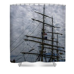 Sailing The Clouds Shower Curtain by Dale Powell