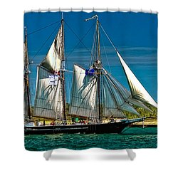 Tall Ship Shower Curtain by Steve Harrington