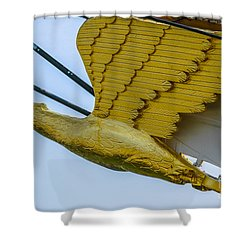 Tall Ship Uscg Barque Eagle Masthead Shower Curtain