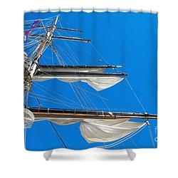 Tall Ship Yards Shower Curtain