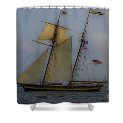 Tall Ships In The Lowcountry Shower Curtain by Dale Powell