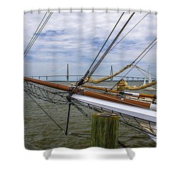 Shower Curtain featuring the photograph Tall Ships In Charleston by Dale Powell