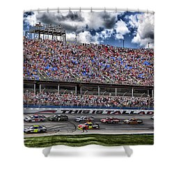 Talladega Superspeedway In Alabama Shower Curtain