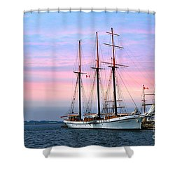 Tallship Empire Sandy Shower Curtain