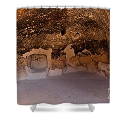 Talus Housefront Room Bandelier National Monument Shower Curtain