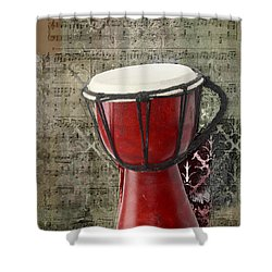 Tam Tam Djembe - S02a Shower Curtain by Variance Collections