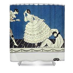 Tamara Karsavinaas Columbine Shower Curtain by Georges Barbier