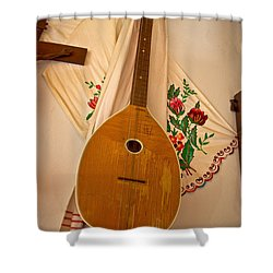 Tamburica Croatian Traditional Music Instrument Shower Curtain