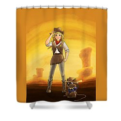 Tammy And Alfred Tame The West Shower Curtain