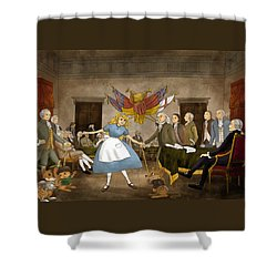 Tammy In Independence Hall Shower Curtain by Reynold Jay