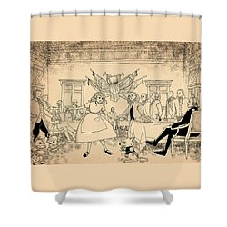 Tammy In Indpendence Hall Shower Curtain by Reynold Jay