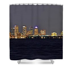 Shower Curtain featuring the photograph Tampa City Skyline At Night 7 November 2012 by Jeff at JSJ Photography