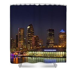 Tampa Lights At Dusk Shower Curtain