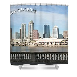 Tampa Skyline Shower Curtain