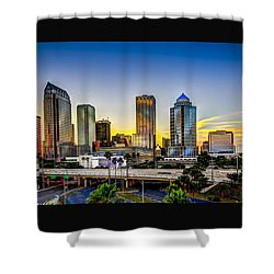 Tampa Skyline Shower Curtain by Marvin Spates