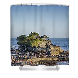Tanah Lot Temple In Bali Indonesia Coast Shower Curtain