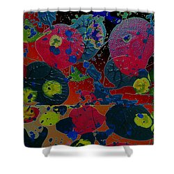 Shower Curtain featuring the painting Tangent by Jacqueline McReynolds